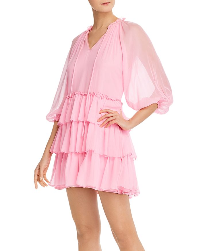 Alice and Olivia - Layla Tiered Ruffle Mini Dress