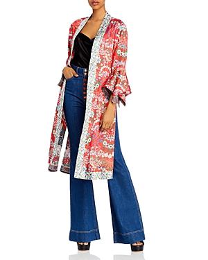 Alice + Olivia Lynn Reversible Long Kimono