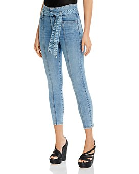 Alice and Olivia - Belted Skinny Ankle Jeans