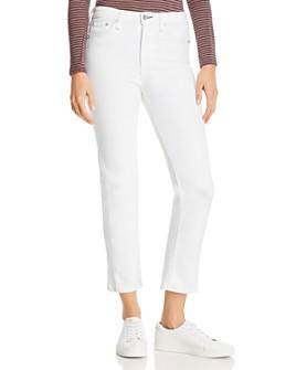 rag & bone - Nina Straight-Leg Cigarette Jeans in Optic White