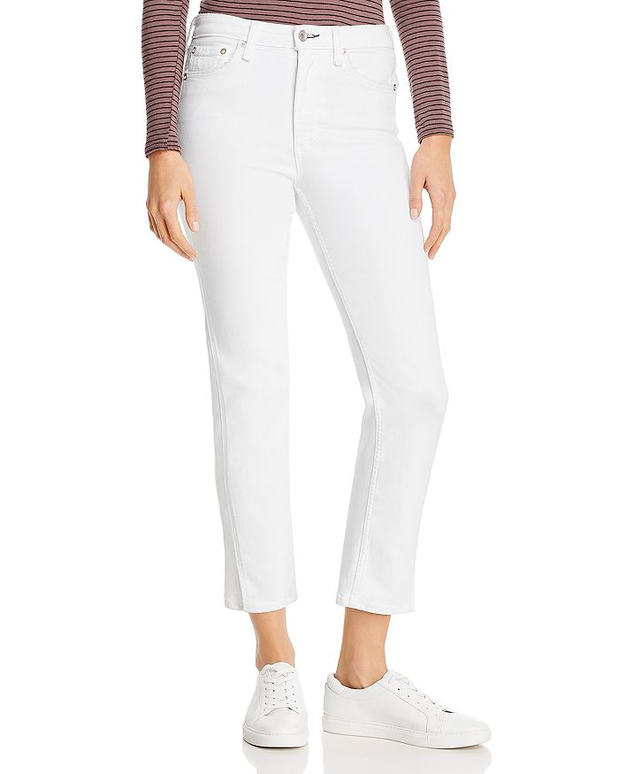 rag & bone - Nina Straight-Leg Cigarette Jeans in Optic White