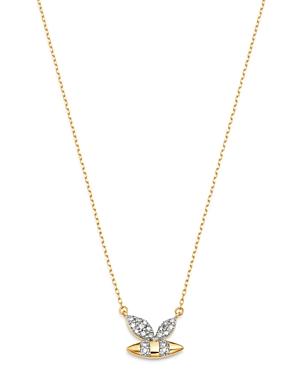 Adina Reyter 14K Yellow Gold Garden Diamond Pave Bee Pendant Necklace, 15-16