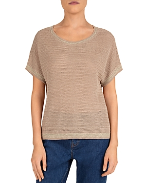 Gerard Darel Emanno Short Sleeve Linen-Blend Sweater