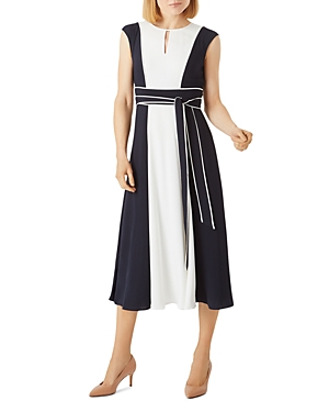 Rae Color-Blocked Midi Dress