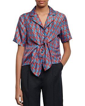 Sandro - Caty Printed Silk Shirt