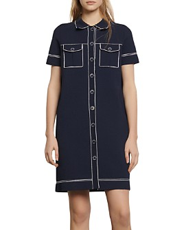 Sandro - Ralphia Topstitched Shift Dress