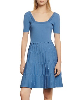 Sandro - Flyn Knit A-Line Dress