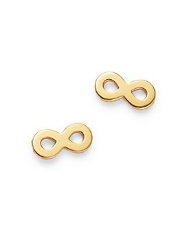 Zoë Chicco - Itty Bitty 14K Yellow Gold Infinity Stud Earrings
