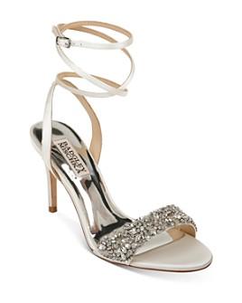 Badgley Mischka - Women's Jen Embellished Strappy High-Heel Sandals