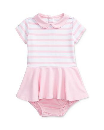 Ralph Lauren - Girls' Ponte Stripe Fit-and-Flare Dress & Bloomers Set - Baby