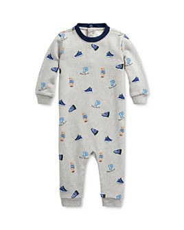 Ralph Lauren - Boys' Cotton French Terry Logo-Print Coveralls - Baby