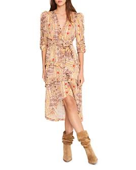 ba&sh - Happy Ruffled Floral Print Dress