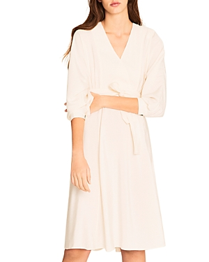 ba & sh Cauka Crossover Midi Dress-Women