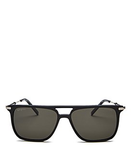 Salvatore Ferragamo - Men's Polarized Brow Bar Square Sunglasses, 57mm