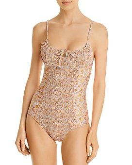 Palm Swimwear - Lenny Printed Underwire One Piece Swimsuit