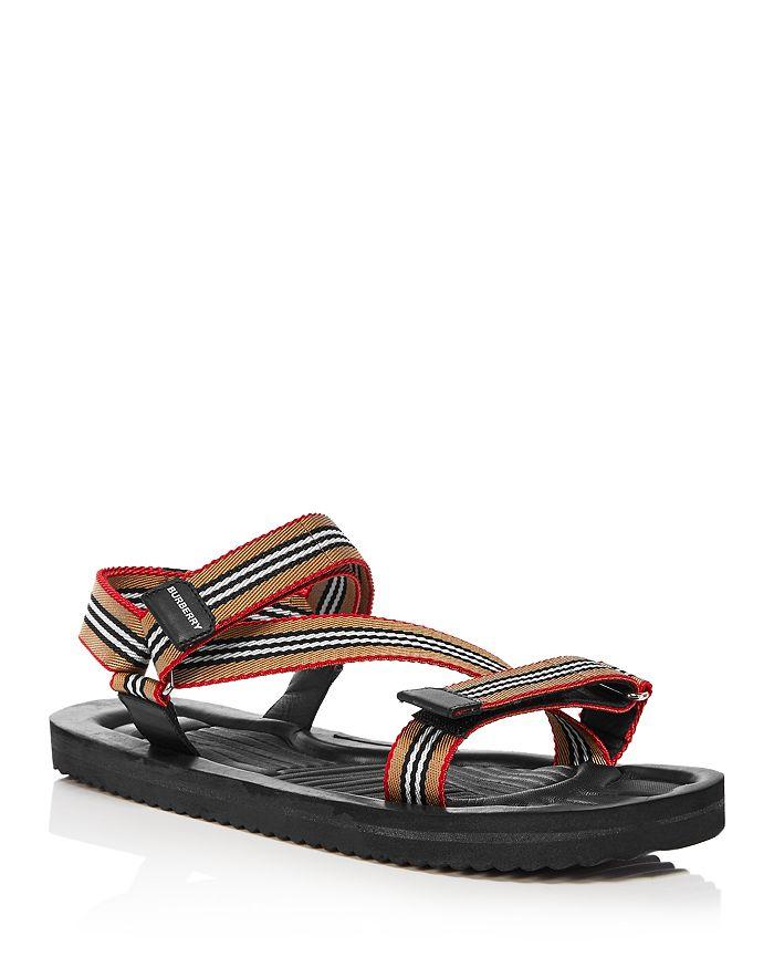 Burberry - Men's Patterson Stripe Strap Sandals