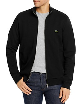 Lacoste - Brushed Piqué Fleece Full-Zip Sweatshirt