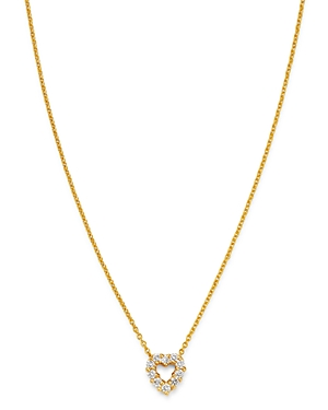 Roberto Coin 18K Yellow Gold Diamond Baby Heart Pendant Necklace, 16-18-Jewelry & Accessories