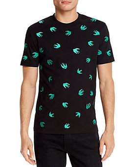 McQ Alexander McQueen - Cotton Swallow Appliquéd Tee