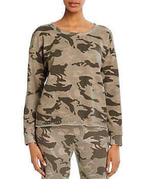 Generation Love - Toby Studded Camo Print Sweatshirt