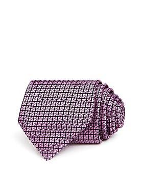 Ermenegildo Zegna - Mini-Clover Grid Silk Classic Tie