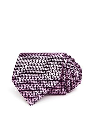 Ermenegildo Zegna Mini-Clover Grid Silk Classic Tie-Men