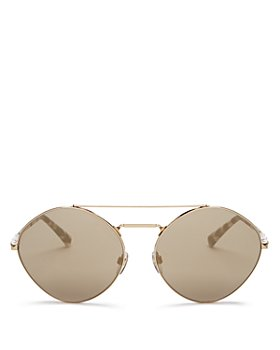 Valentino - Women's Brow Bar Round Sunglasses, 61mm