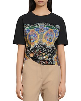 Sandro - Rayi T-Shirt With Scarf Print