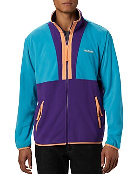 Columbia - Color-Blocked UPF 50 Regular Fit Back Bowl Fleece Jacket