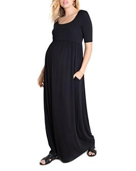 Ingrid & Isabel - Elbow-Sleeve Maxi Maternity Dress