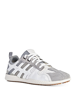 Geox Men\\\'s Snake 2 Leather Low Top Sneakers