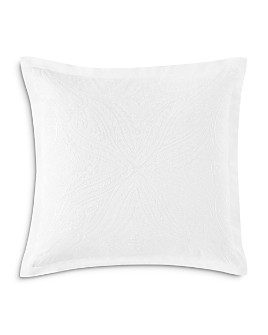"Charisma - Settee Embroidered Decorative Pillow, 18"" x 18"""