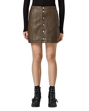 Allsaints Carson Leather Mini Skirt