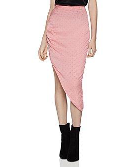 BCBGeneration - Ruched Satin Slip Skirt