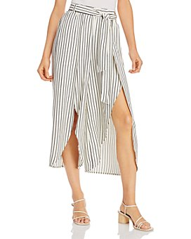 Jack by BB DAKOTA - Cut the Wrap Striped Slit-Leg Pants