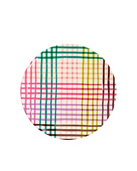 kate spade new york - Rainbow Gingham Melamine Accent Plate