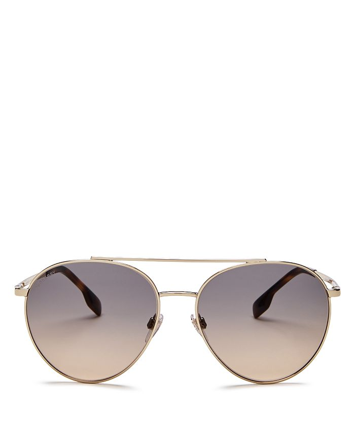 Burberry - Women's Brow Bar Aviator Sunglasses, 59mm