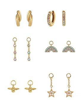Olivia Burton - Rainbow House of Huggies Hoop Earrings Gift Set in Yellow Gold-Plated Sterling Silver