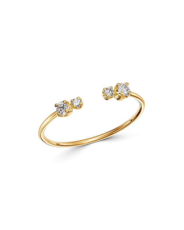 Zoë Chicco - 14K Yellow Gold Prong Diamonds Diamond Open Ring