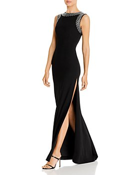 PAULE KA - Embellished Satin Gown