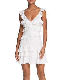 Bardot - Lace-Inset Ruffled Dress - 100% Exclusive