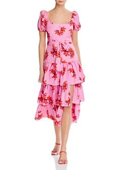 LIKELY - Lottie Puff-Sleeve Midi Dress