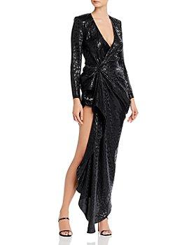 Redemption - Animal Jacquard Asymmetric Dress