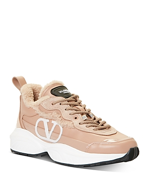 Valentino Women\\\'s Logo Lace-Up Sneakers