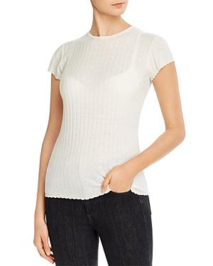 Joie Filana Ribbed Knit Short Sleeve Shirt