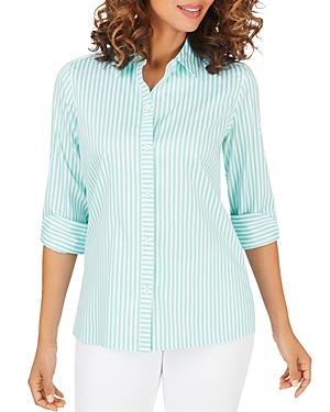 Foxcroft Morgan Day Stripe Non-Iron Shirt-Women
