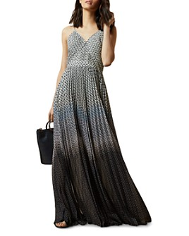 Ted Baker - Edra Masquerade-Printed Pleated Maxi Dress