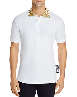 Versace Jeans Couture - Baroque-Collar Slim Fit Polo