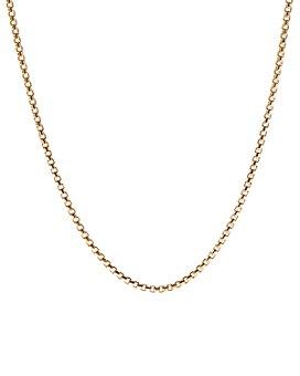 """David Yurman - Box Chain Necklace in 18K Yellow Gold, 18"""""""