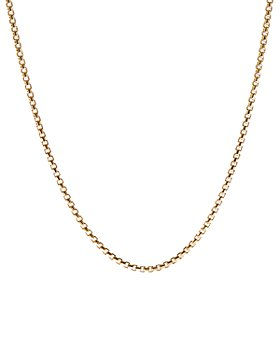 David Yurman - Box Chain Necklace in 18K Yellow Gold
